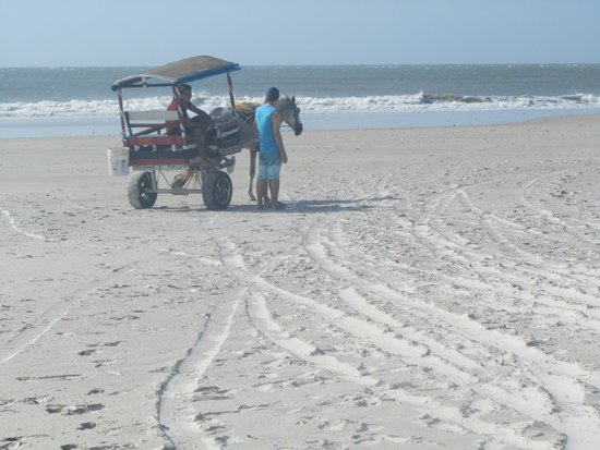 Algodoal Island: sur la plage......