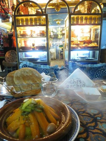 Chez Rachid: Tagine - view of a bakery across the way