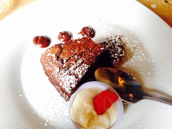 Morans Oyster Cottage: Chocolate torte - so yum!!!!