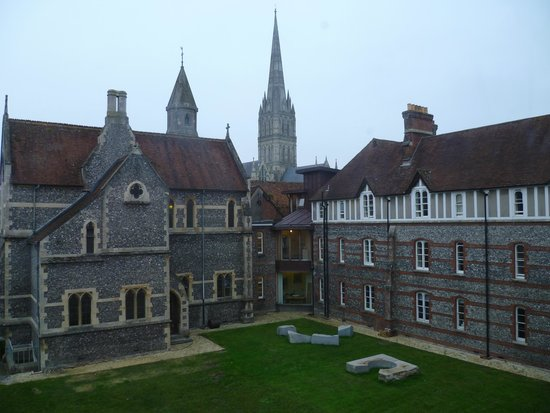 Sarum College: Salisbury Cathedral from bedroom