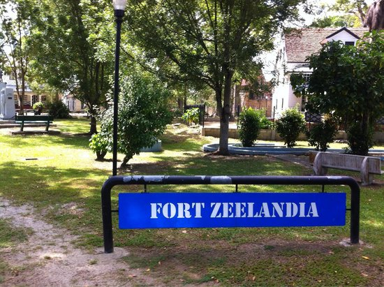 Fort Zeelandia: Sign in the general area of the fort.
