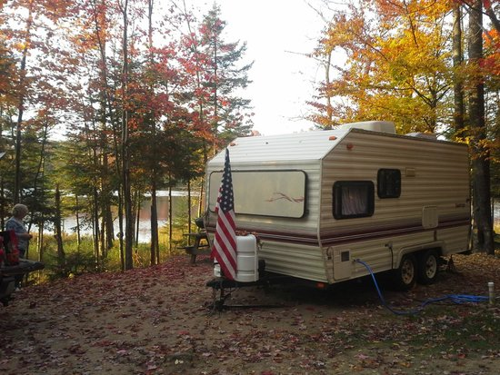 Old Forge Camping Resort: Our campsite