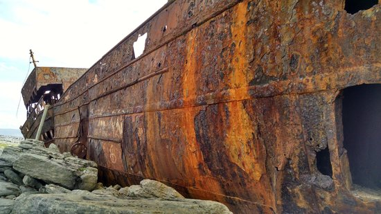 Plassey Wreck: Outside view of ship
