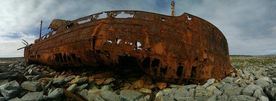 Plassey Wreck: Panorama View