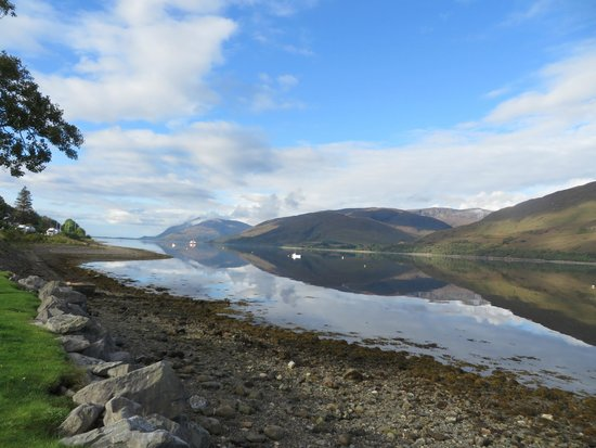 The Willows: The view of Loch Linnhe from the front porch.