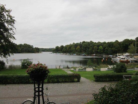 Stallmastaregarden Hotel: Uitzicht vanaf hotel op Hagameer