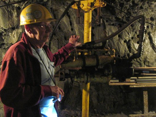 Sierra Silver Mine Tour: Showing drill operation