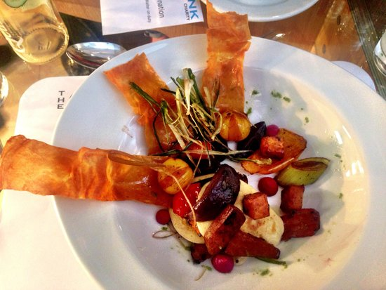 A deconstructed beet root tart - Picture of The Clink ...