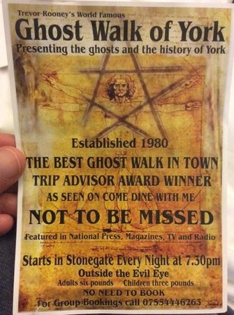 Trevor Rooney's Ghost Tour of York : Every night!?!? yeah right!
