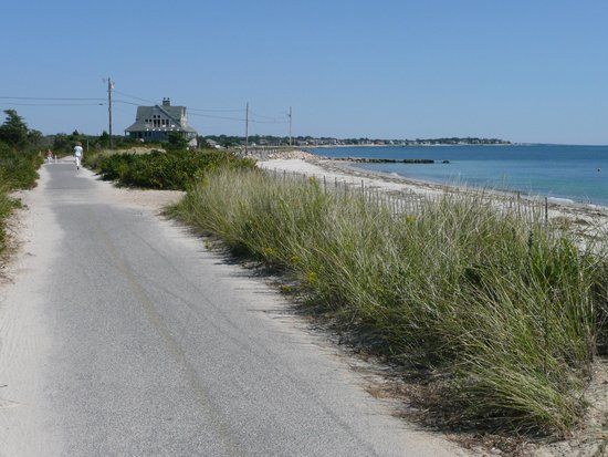 Southern end of Shining Sea Bikeway. Northern end is through woods, marshes and bogs.