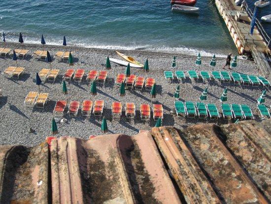 Hotel La Certosa : praia do hotel