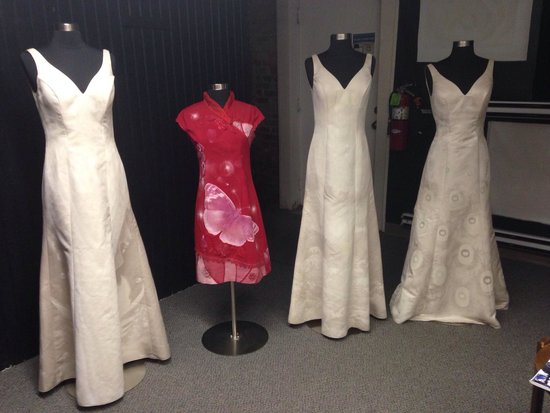 International Wall Dog Mural and Sign Art Museum: These dresses were made by a local artist, they are extremely beautiful as is but the magic happ