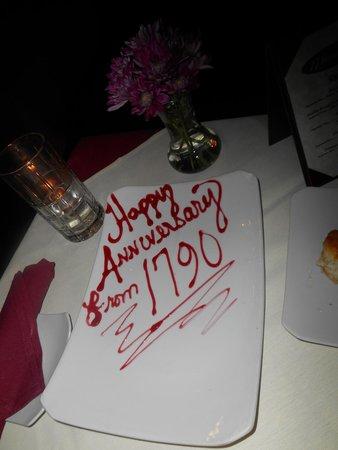 17 Hundred 90 Restaurant : Sweet treat