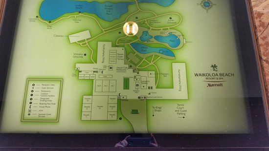 resort map - Picture of Waikoloa Beach Marriott Resort & Spa ...