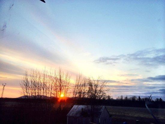 Bettles Lodge : Sunset from Bettles