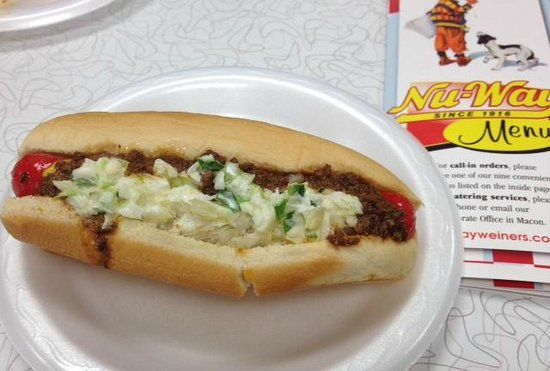 Nu Way Weiners - Downtown: all the way plus slaw