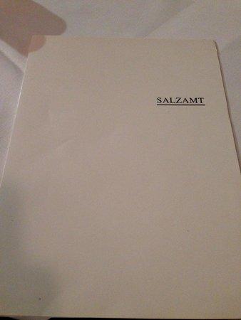 Restaurant Salzamt: Menu