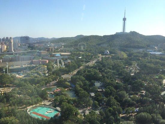 Swish-Hotel Dalian: 部屋からみた労働公園の景色