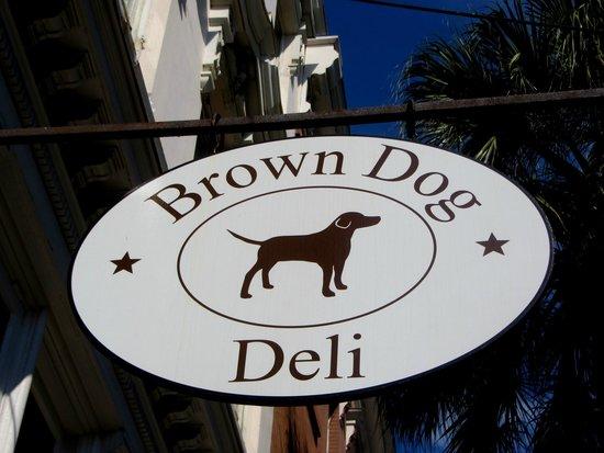 Brown Dog Deli: Store sign