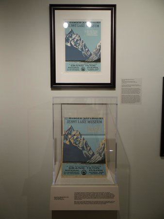 Department of the Interior Museum: One of the original prints and its restored version