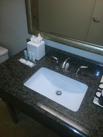 Clarion Inn & Suites Conference Center: Upgraded Bathroom