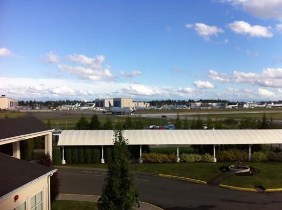 Hilton Garden Inn Seattle North / Everett: Boeing Tarmac seen from room windows.