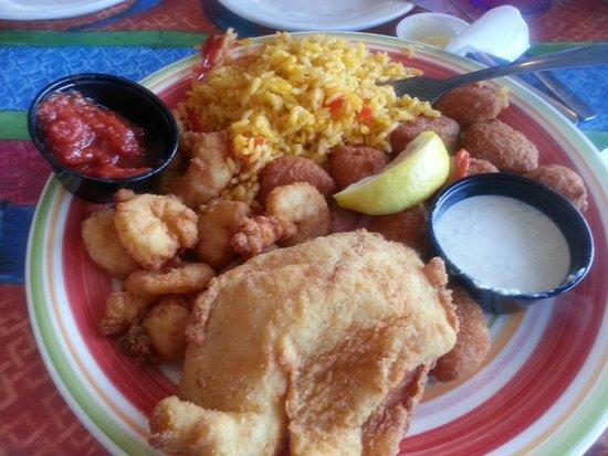 De Soto's Seafood Kitchen: Flounder with Shrimp