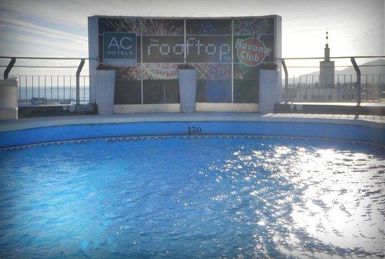 AC Hotel Malaga Palacio: Terraza y piscina