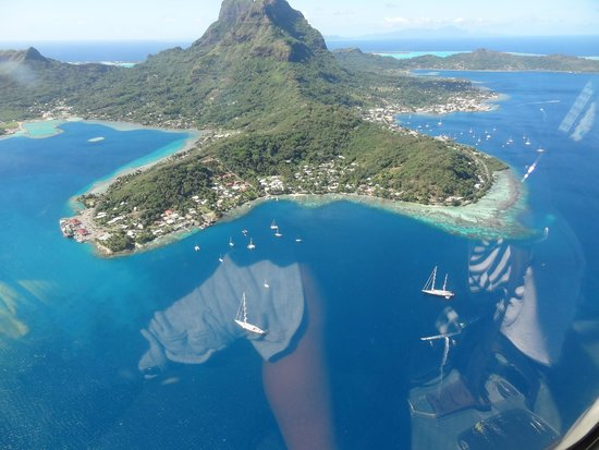 Bora Bora Pearl Beach Resort & Spa: View of Bora from the helicopter