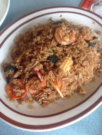 Thai Noodles Cafe: Spicy shrimp fried rice