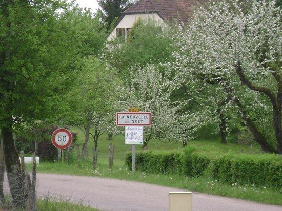 Haute-Saone, Prancis: entrée du Village