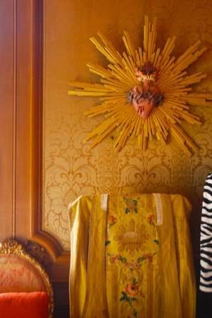 Chateau de Burnand : Beautiful priest robes all over