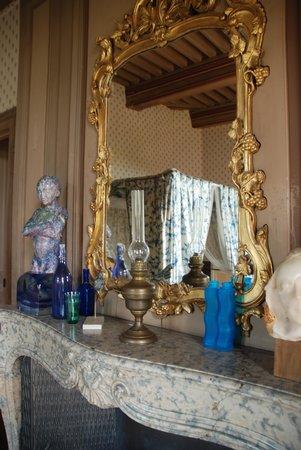 Chateau de Burnand : Blue Room fireplace