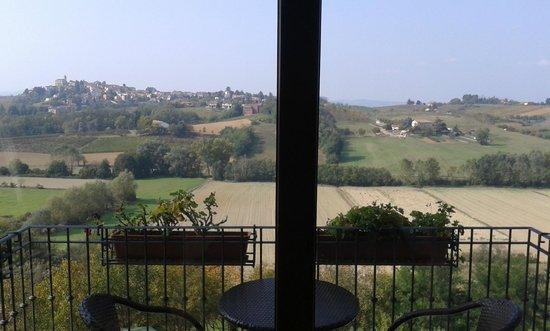 Hotel Villa Carmelita: La vista dalla nostra stanza