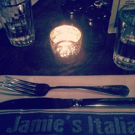 Jamie's Italian: decoración de las mesas