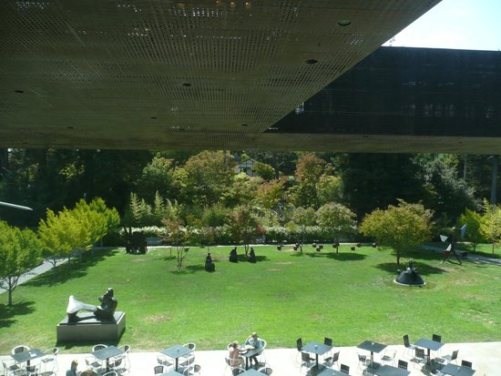 de Young Cafe: View outside with the cafe patio in the foreground