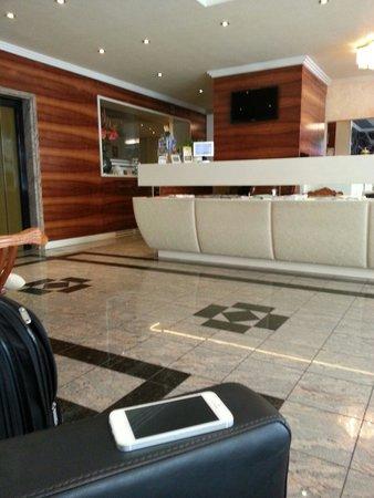 Hotel Vienna: Reception and elevator