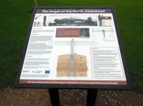 The Angel of the North: info board