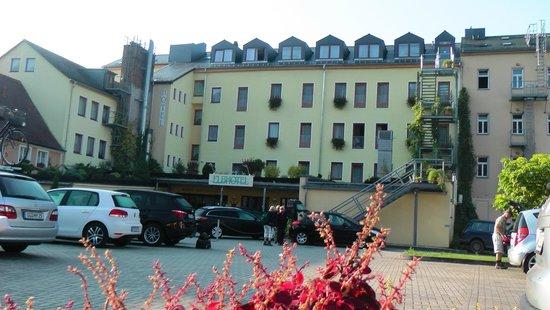 Elbhotel Bad Schandau: Hotel Stadtsicht