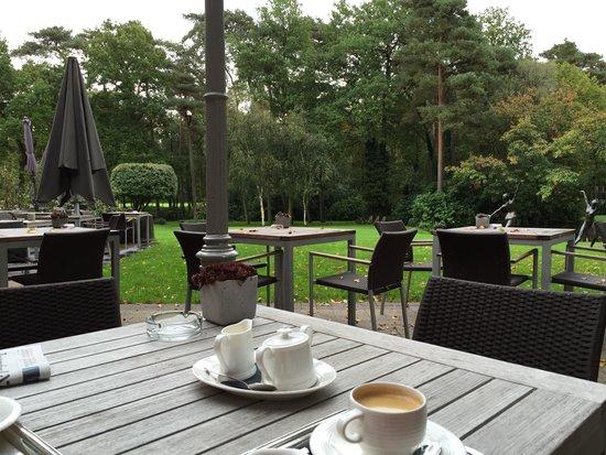 La Butte Aux Bois Hostellerie : coffee in the morning