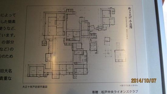 Tojo House : 戸定邸平面図