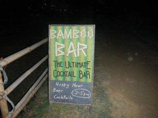 Bamboo Bar : 看板