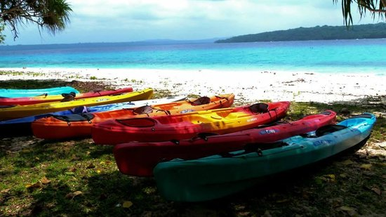 Bokissa Private Island Resort: Feel free to grab a kayak at any time to explore the reefs