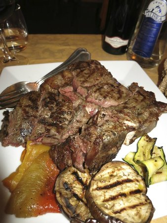 La Terrazza: Florentine Steak in Rhadda Chianti