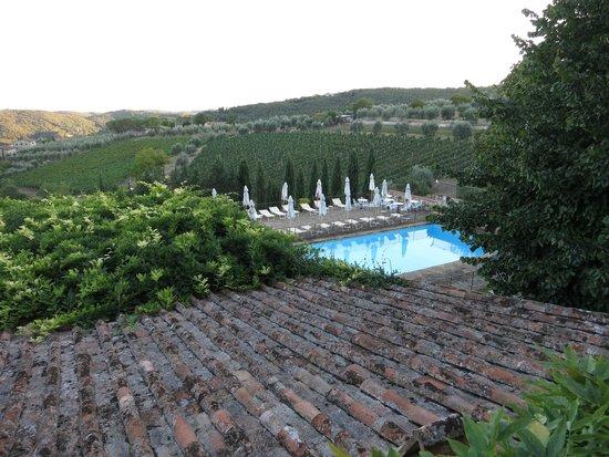 La Terrazza: Pool area Rhadda Chianti