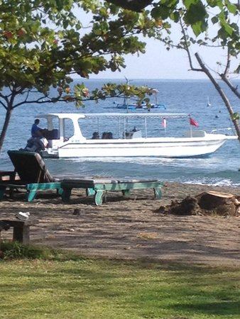 Taman Selini Beach Bungalows : Dive/snorkelling boat from next door
