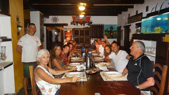 Posada Lagunita: Cena en la posada