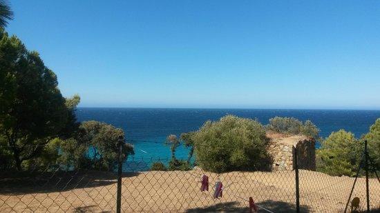 Camping Les Oliviers : Magnifique vue depuis l'emplacement
