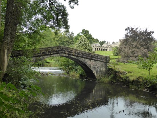 Looking up the river towards Ilam park