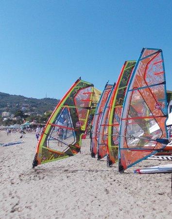 Hotel Delle Mimose : la spiaggia di Diano marina.